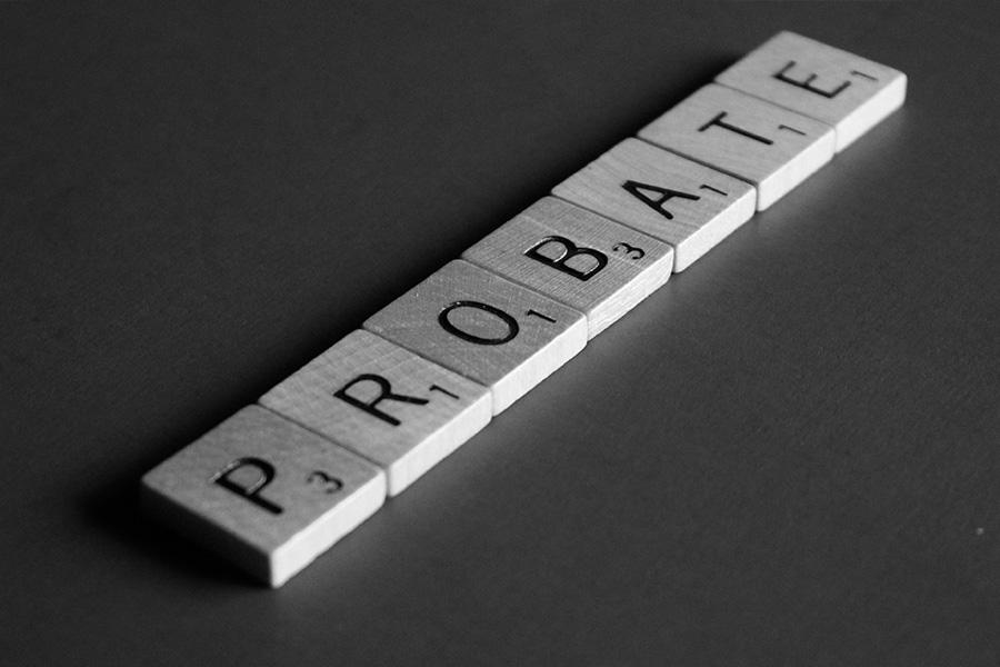 letter blocks spelling out Probate